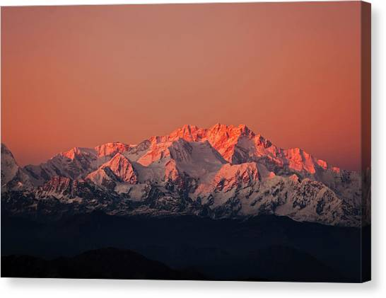 Kangchenjunga Canvas Print - India, West Bengal, Singalila National by Anthony Asael