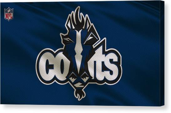 Indianapolis Colts Canvas Print - Indianapolis Colts Uniform by Joe Hamilton