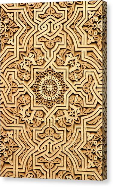 Islamic Plasterwork Canvas Print by PIXELS  XPOSED Ralph A Ledergerber Photography