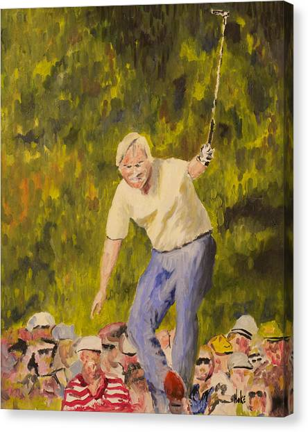 Jack Nicklaus Canvas Print - Jack At The Masters by Scott Hoke