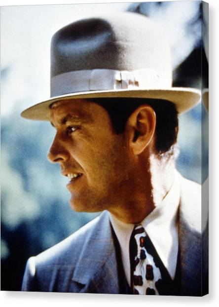 Jack Nicholson Canvas Print - Jack Nicholson In Chinatown  by Silver Screen