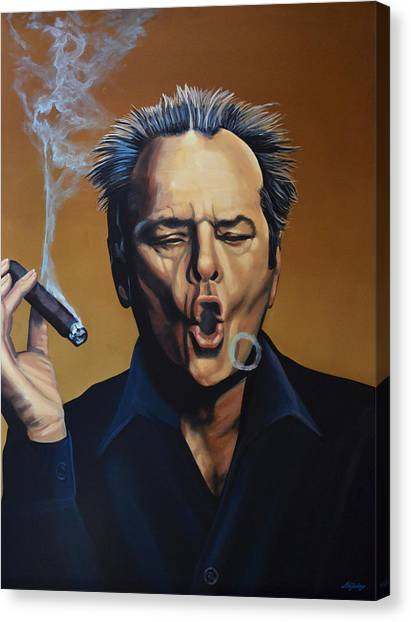 Hollywood Canvas Print - Jack Nicholson Painting by Paul Meijering