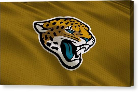 Jacksonville Jaguars Canvas Print - Jacksonville Jaguars Uniform by Joe Hamilton