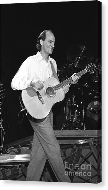 Folk Singer Canvas Print - Musicians James Taylor by Concert Photos