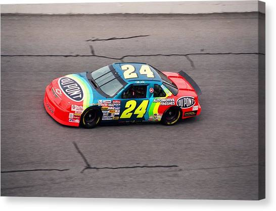 Nascar Canvas Print - Jeff Gordon by Retro Images Archive