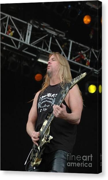 Jeff Hanneman Canvas Print - Jeff Hanneman- Slayer by Jenny Potter
