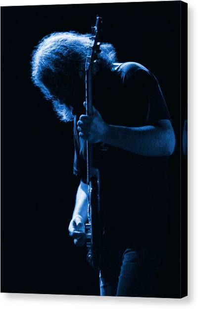 Grateful Dead Canvas Print - Jerry Blue Sillow by Ben Upham