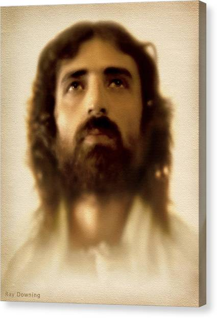 Jesus In Glory Canvas Print by Ray Downing