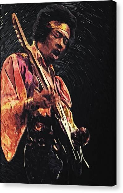 Janis Joplin Canvas Print - Jimi Hendrix by Zapista