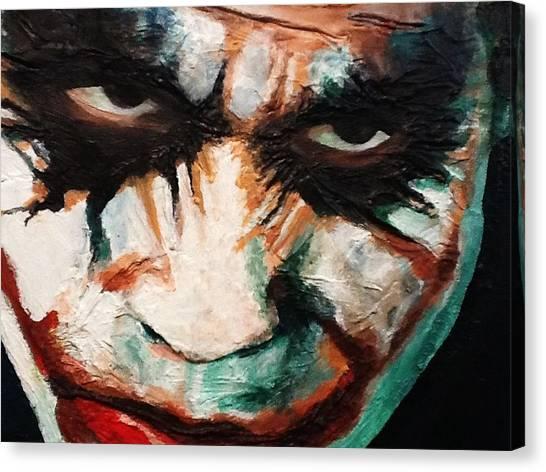 Heath Ledger Canvas Print - Joker by Arianit Fazliu