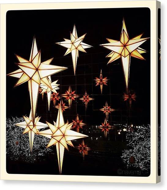 Stars Canvas Print - Joy To The World by Natasha Marco
