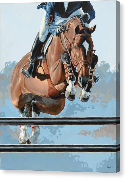 Horses Canvas Print - High Style  by Lesley Alexander