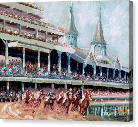 Kentucky Derby Canvas Print - Kentucky Derby by Todd Bandy