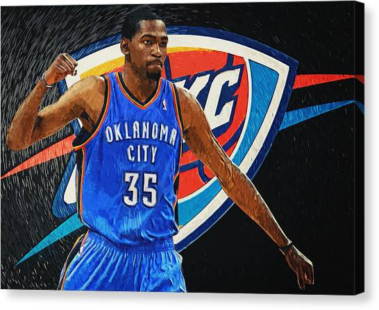 Russell Westbrook Canvas Print - Kevin Durant by Zapista