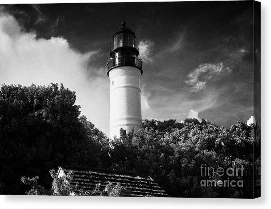 Key West Lighthouse Florida Usa Canvas Print by Joe Fox