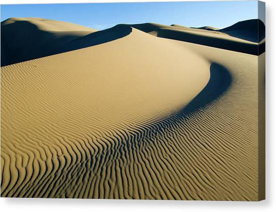 Gobi Desert Canvas Print - Khongoryn Els Sand Dunes, Gobi National by Ted Wood