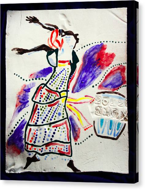 Kiganda Dance - Uganda Canvas Print