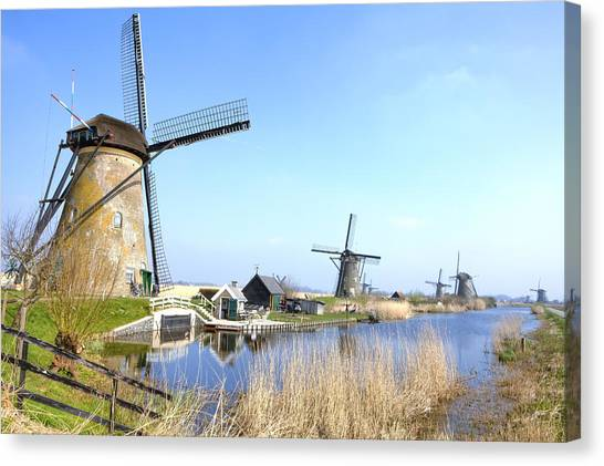 World Heritage Canvas Print - Kinderdijk by Joana Kruse