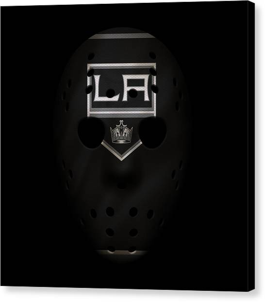 Los Angeles Kings Canvas Print - Kings Jersey Mask by Joe Hamilton