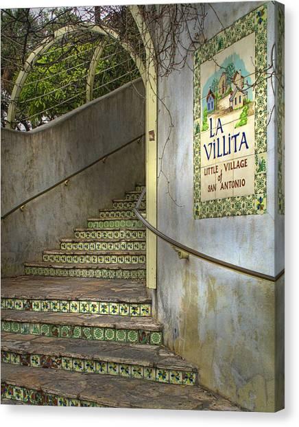 San Antonio Canvas Print - La Villita  by David and Carol Kelly