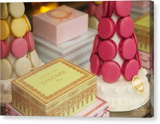 Sweet Tea Canvas Print - Laduree Sweets by Brian Jannsen