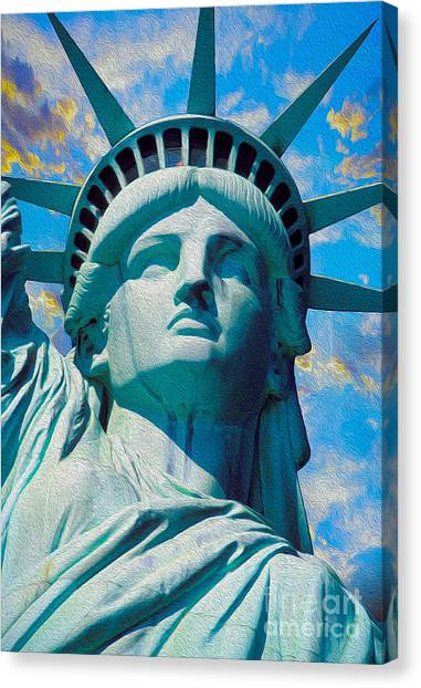 Etc Canvas Print - Lady Liberty by Jon Neidert