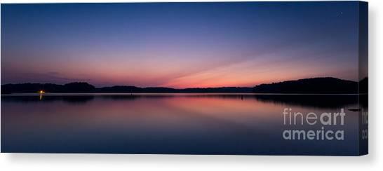 Lake Lanier After Sunset Canvas Print
