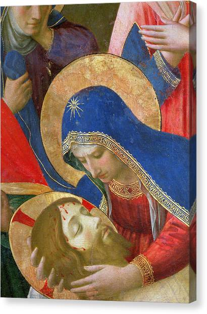 Messiah Canvas Print - Lamentation Over The Dead Christ by Fra Angelico