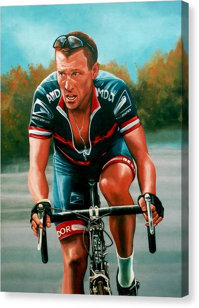 Tour De France Canvas Print - Lance Armstrong by Paul Meijering