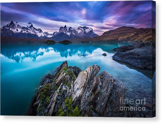 Andes Mountains Canvas Print - Last Light by Inge Johnsson