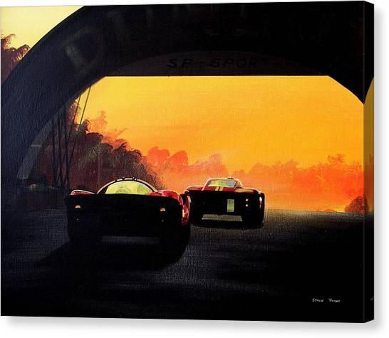 Le Mans Sunset Canvas Print by Steve Jones