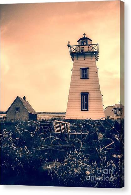 Prince Edward Island Canvas Print - Lighthouse Prince Edward Island by Edward Fielding