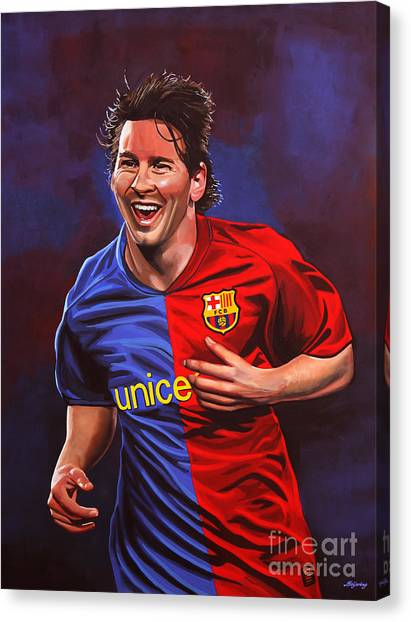 Goal Canvas Print - Lionel Messi  by Paul Meijering