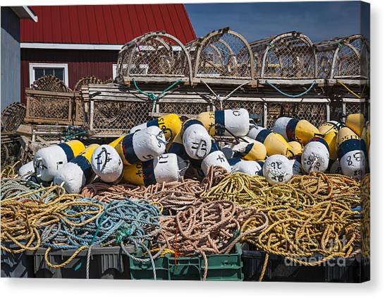 Netting Canvas Print - Lobster Fishing by Elena Elisseeva