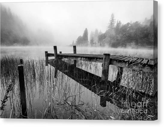 Scotch Canvas Print - Loch Ard Early Mist by John Farnan