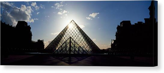 The Louvre Canvas Print - Louvre Paris France by Panoramic Images