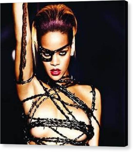 Rihanna Canvas Print - #love #tagsforlikes #rihanna #instagood by Crystal Edge