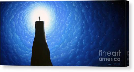 Love Will Show You The Light Canvas Print by Chris Mackie