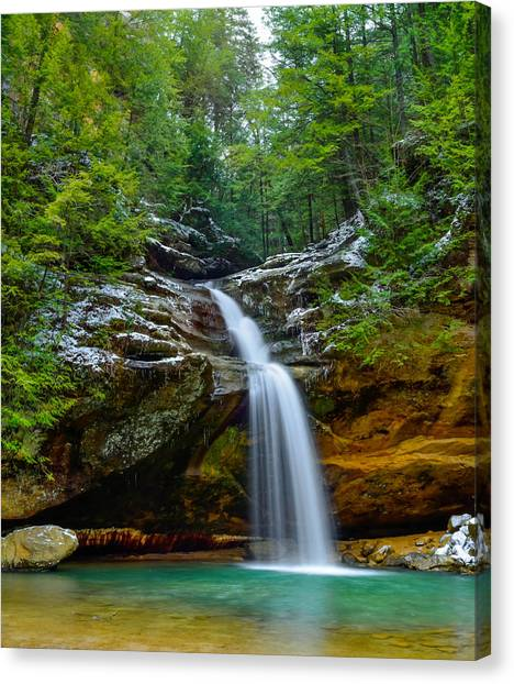 Lower Falls At Old Man's Cave Canvas Print