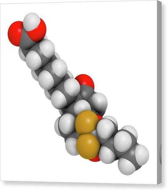 Lubiprostone Chronic Constipation Drug Canvas Print by Molekuul