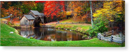 Grist Canvas Print - Mabry Mill Pano by Emmanuel Panagiotakis