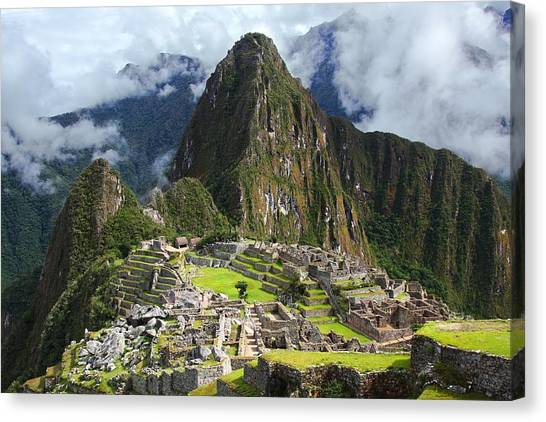 Peruvian Canvas Print - Machu Picchu by Dan Breckwoldt