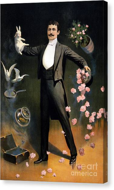 Hat Trick Canvas Print - Magician 1899 by Photo Researchers