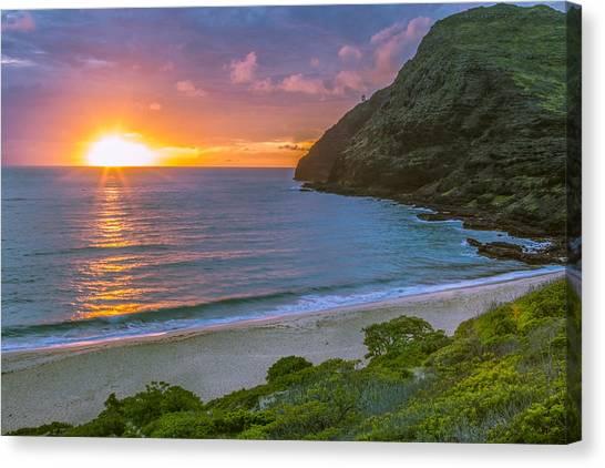 Makapuu Sunrise 1 Canvas Print