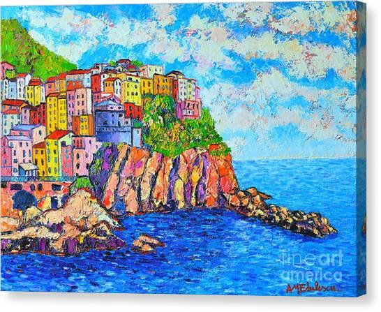 Manarola Cinque Terre Italy  Canvas Print