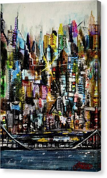 Manhattan Morning Canvas Print