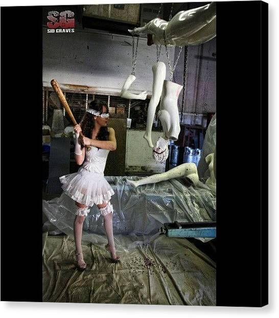Factories Canvas Print - Mannequin Pinata / Started As A Dream by Sid Graves