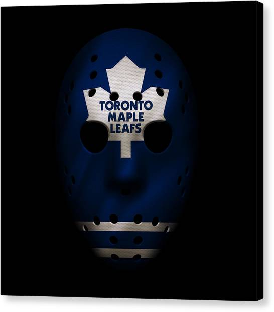 Toronto Maple Leafs Canvas Print - Maple Leafs Jersey Mask by Joe Hamilton