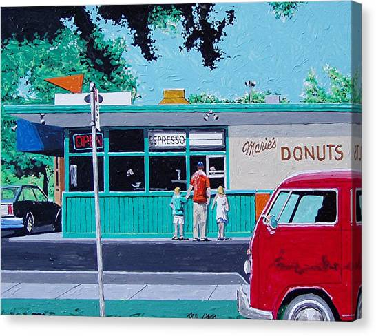 Maries Donuts Canvas Print by Paul Guyer