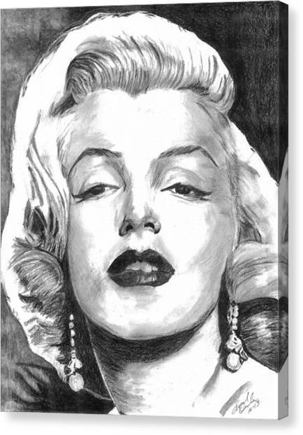 Marilyn Canvas Print by Ariel Davila